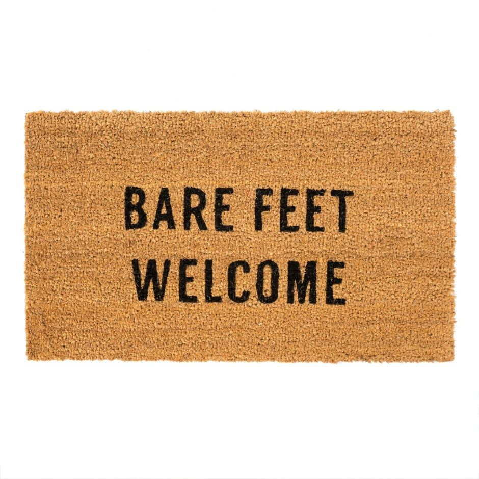 bare feet welcome doormat