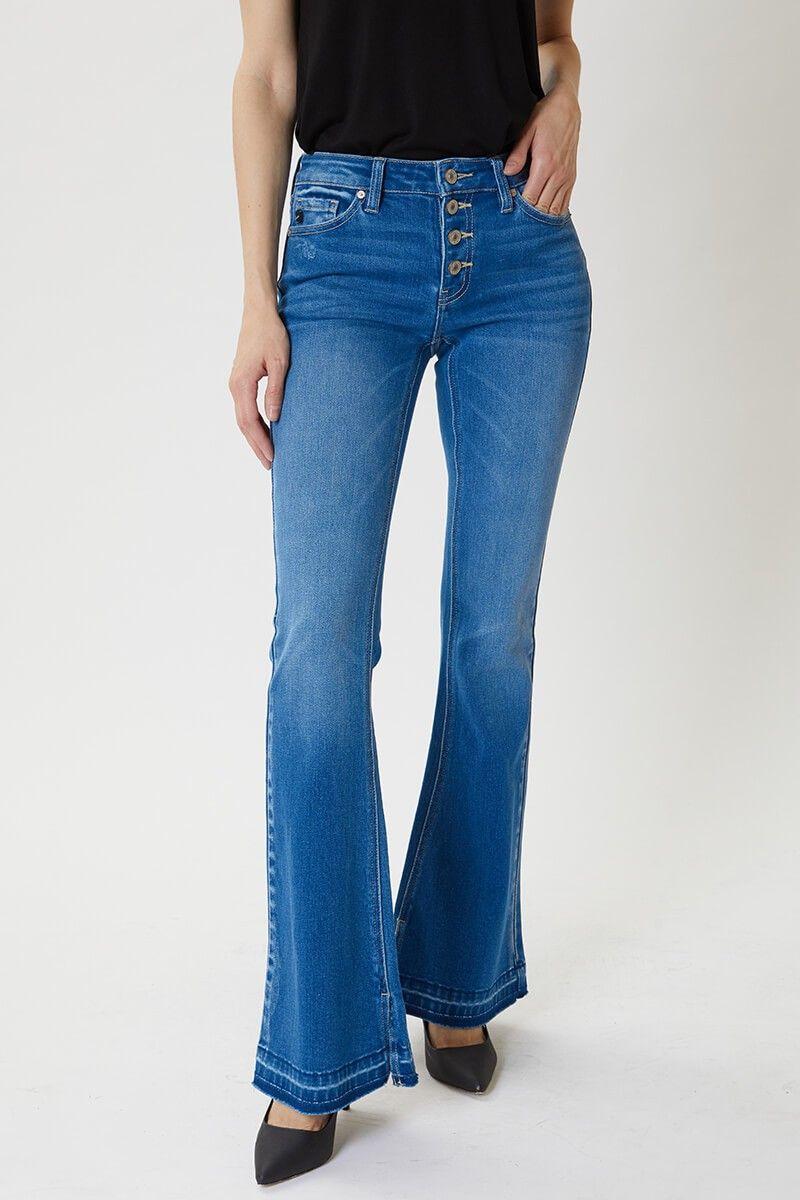 kancan malone flare jean
