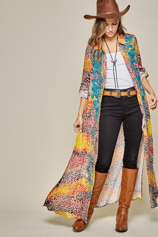 hannah jane embroidered duster