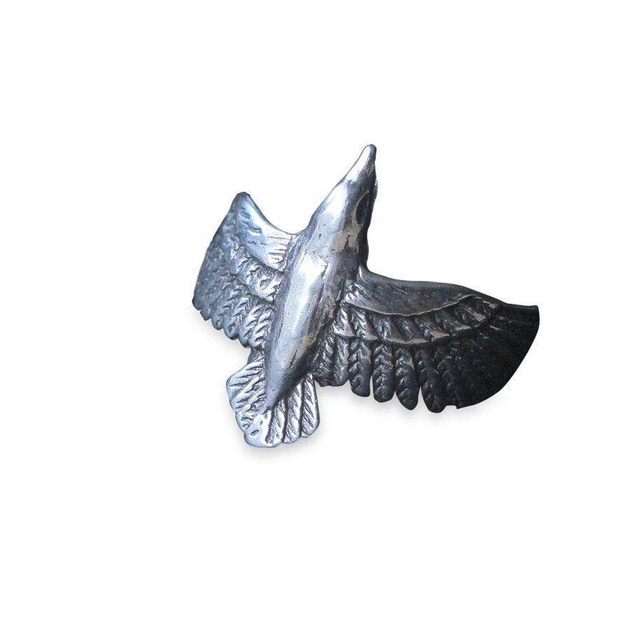 flying raven ring