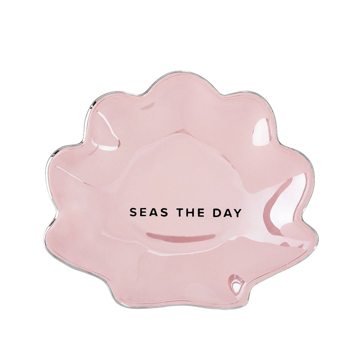 mermaid pink tea tray