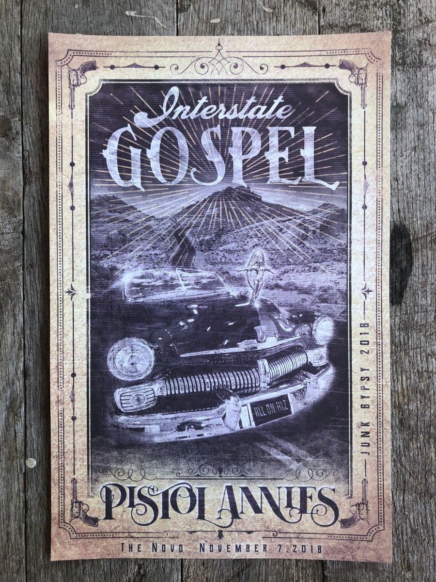 interstate gospel concert poster- mustard