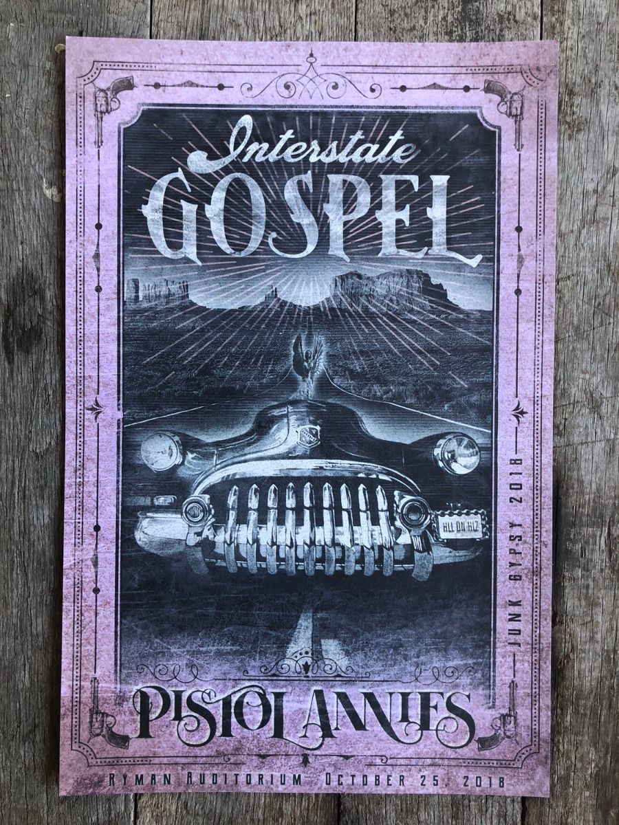 interstate gospel concert poster- pink