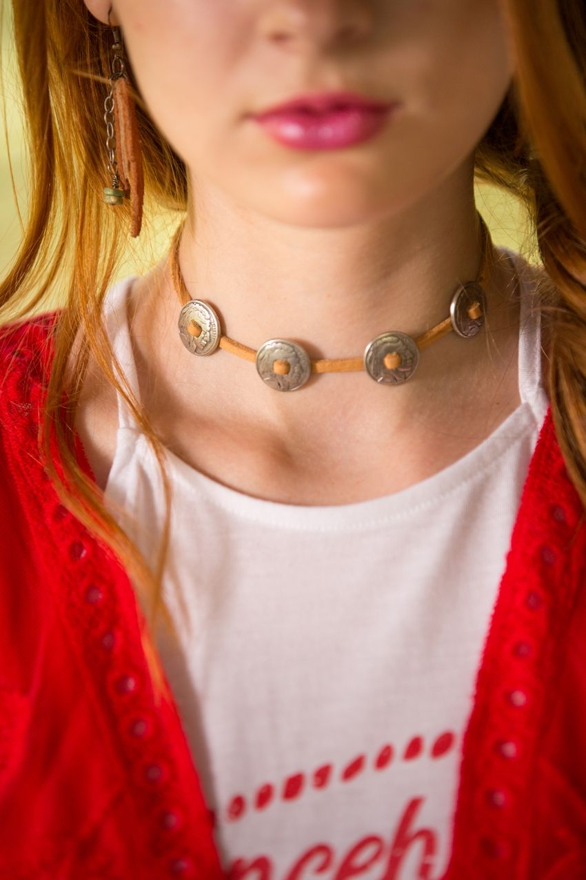 rustic ranch choker - available in 3 colors