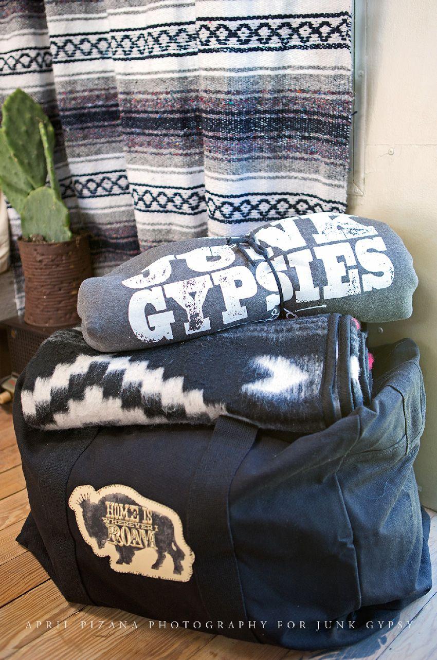 home is wherever i roam oversized rucksack duffle - black