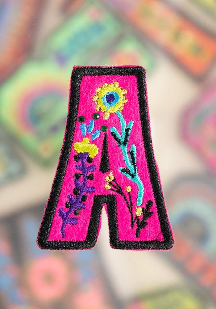 "letter patch ""a"""