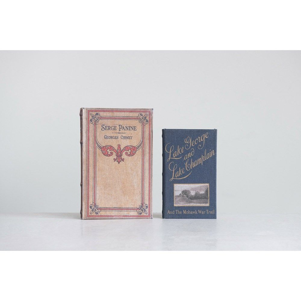 Canvas book storage boxes - serge panine