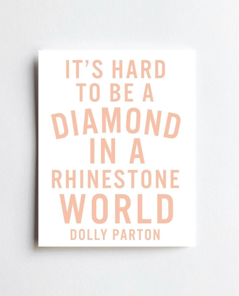 dolly diamond print