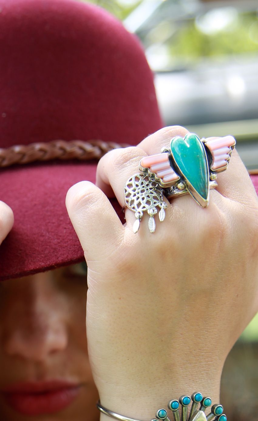 dreamcatcher ring- 2 colors available!
