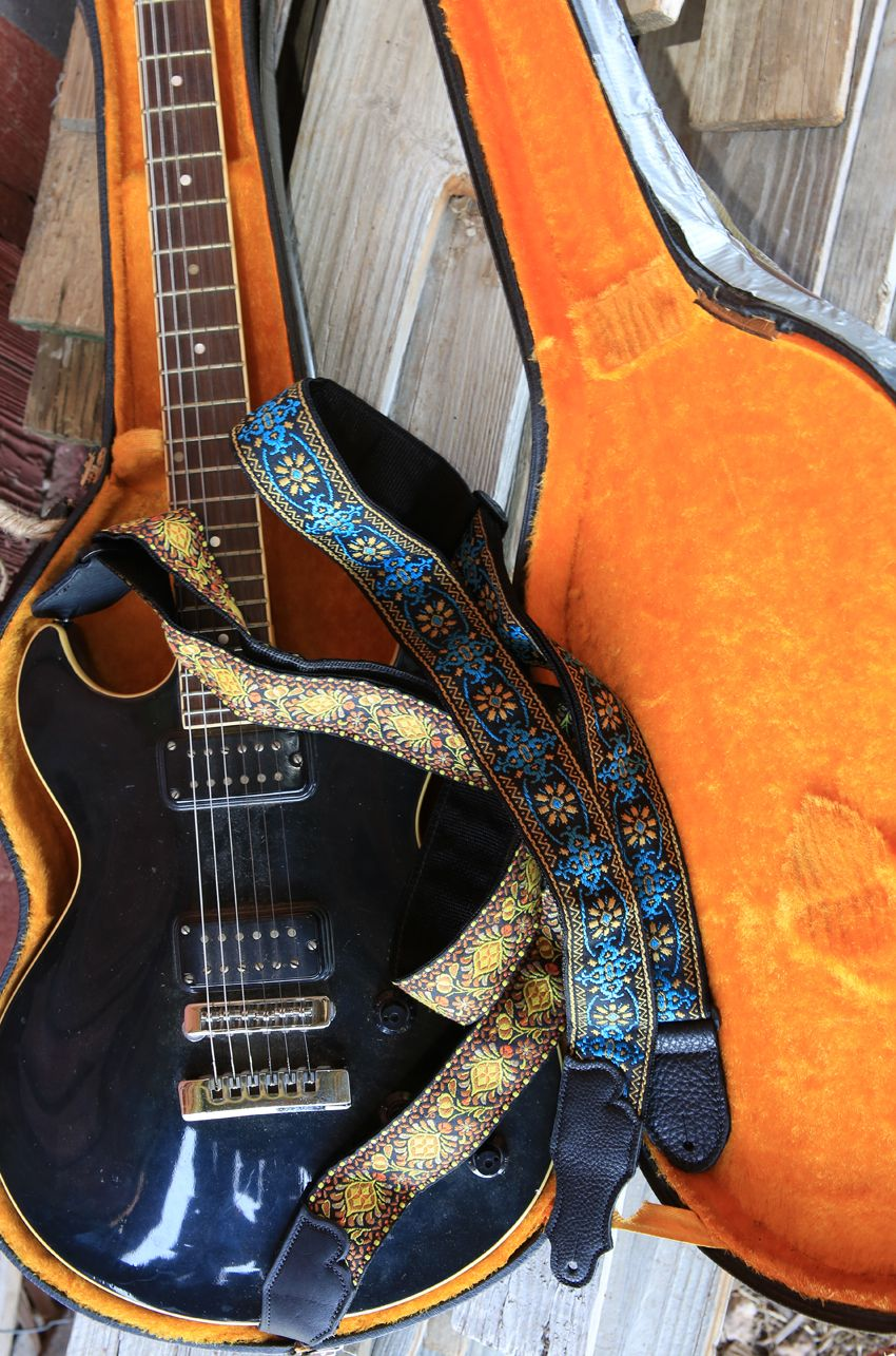 retro folk guitar straps