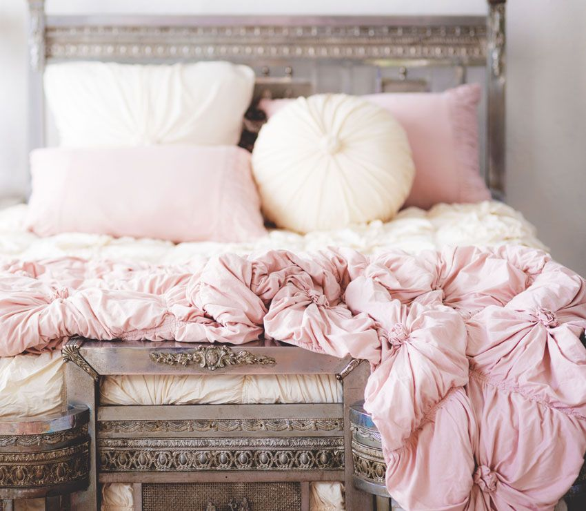 the lazybones jersey comforter-tuscan pink