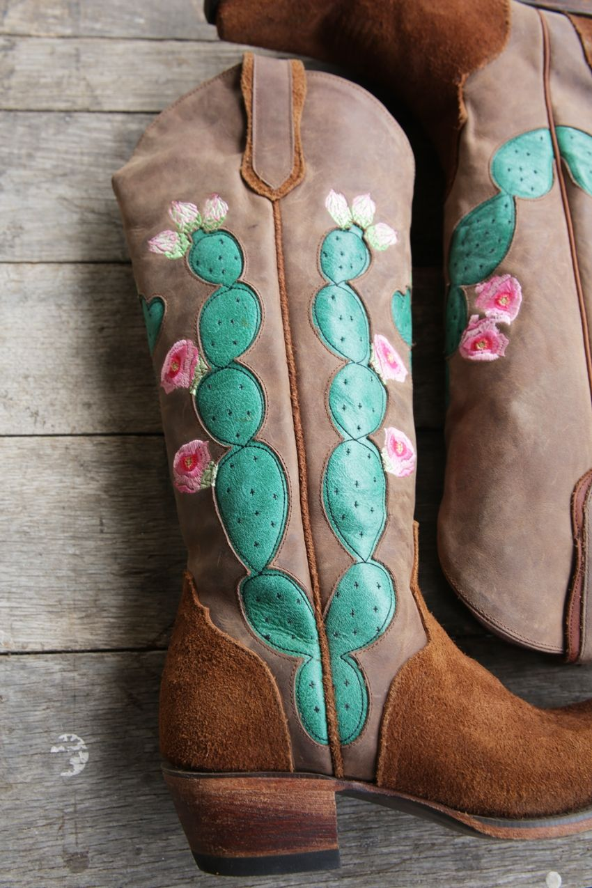hard to handle cactus boot- brown