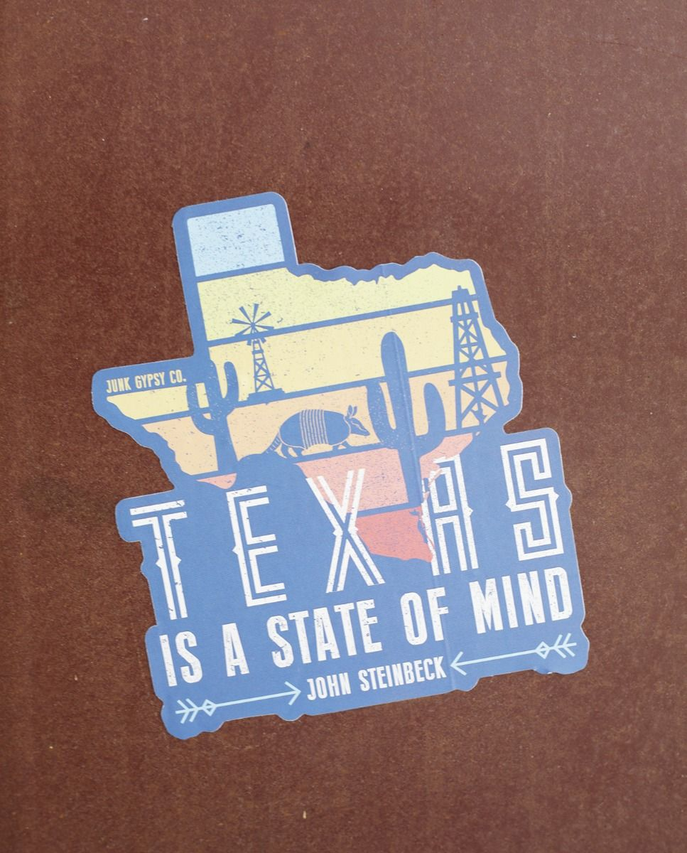 blue texas is a state of mind sticker