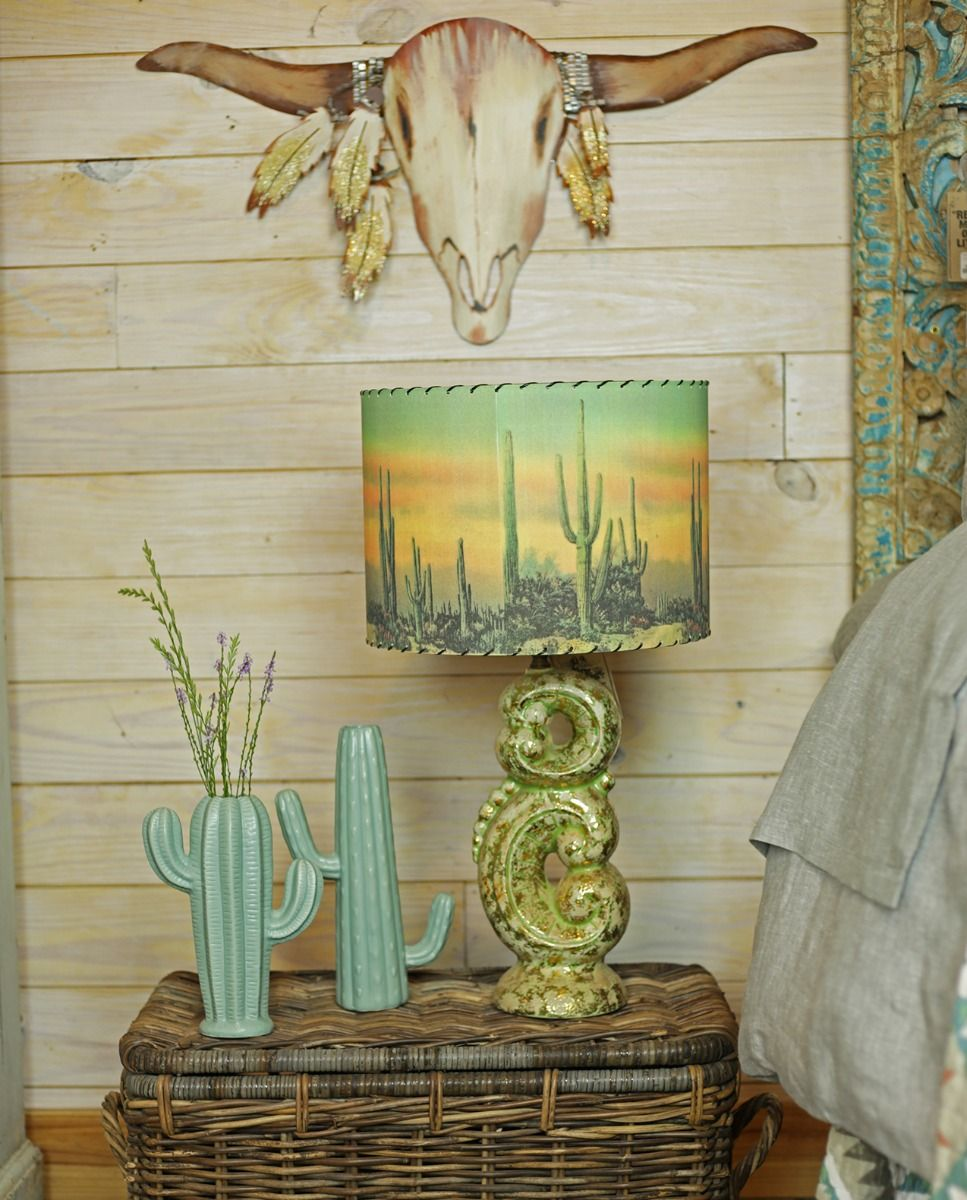 desert sunset lamp shade