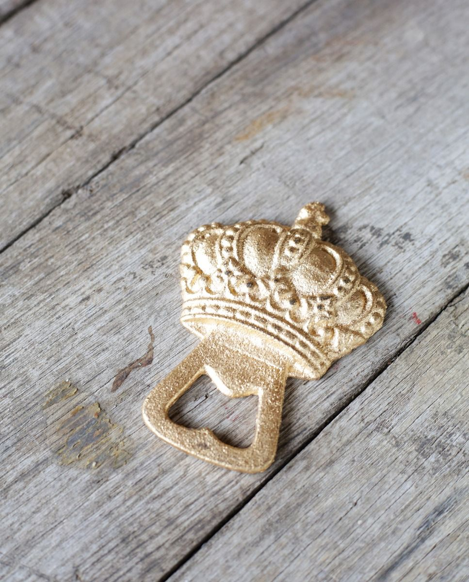 crown bottle opener gold