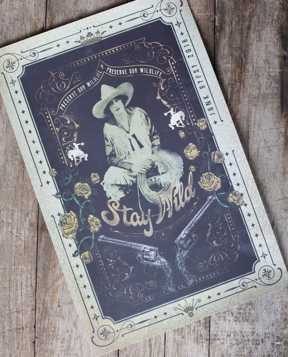 stay wild poster 11x17