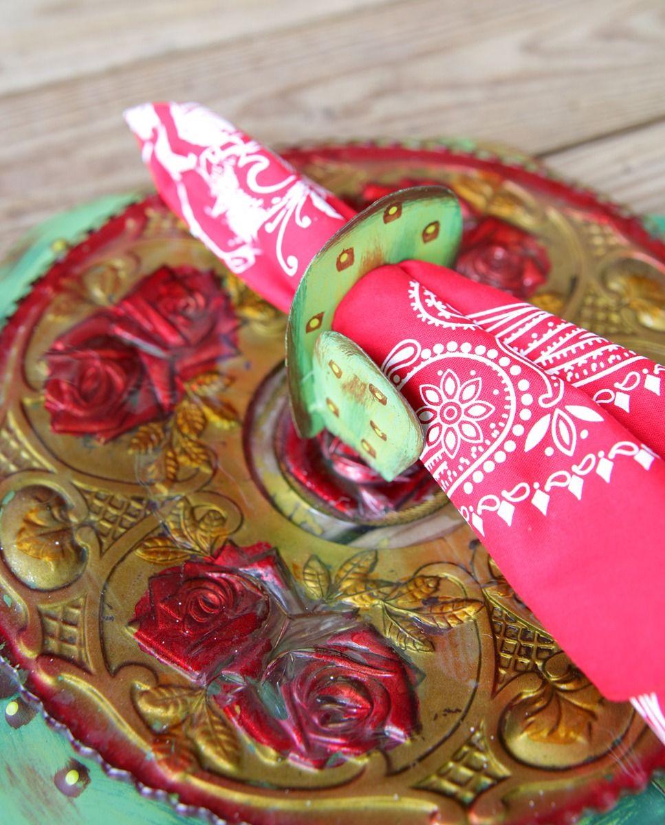 cactus napkin ring