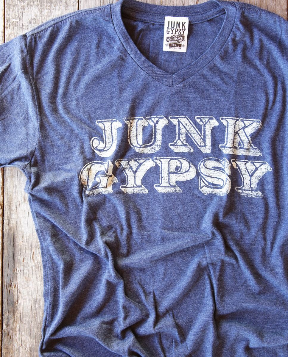 junk gypsy v-neck-navy