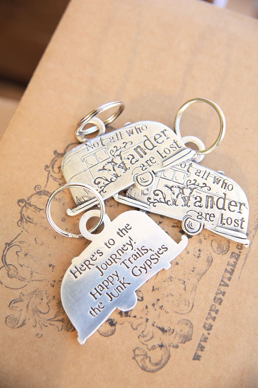 not all who wander keychain