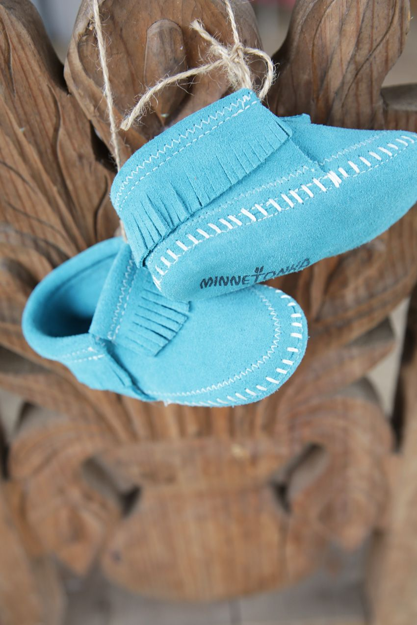riley infant bootie - turquoise