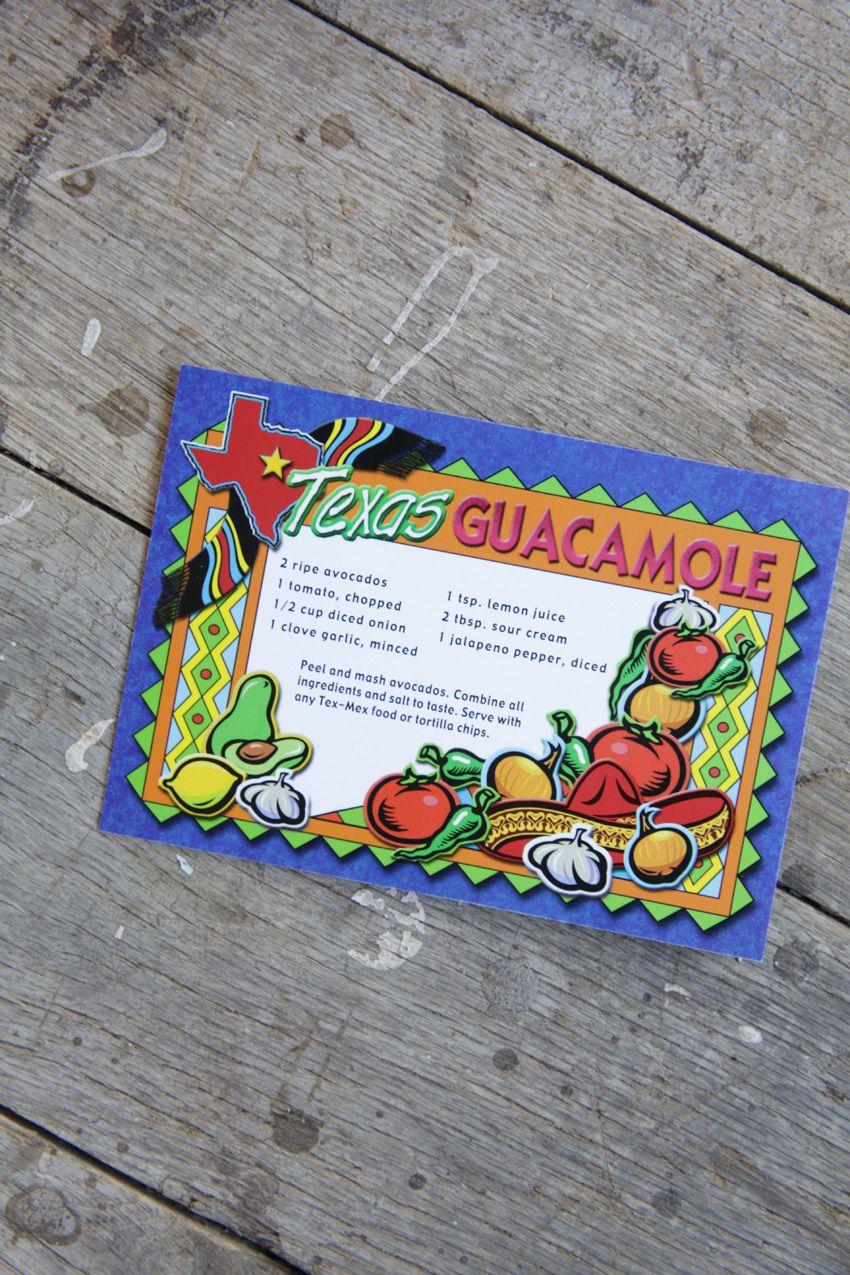 texas guacamole postcard