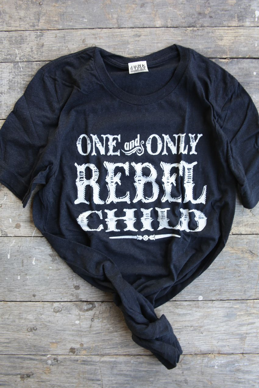 rebel child unisex black tee