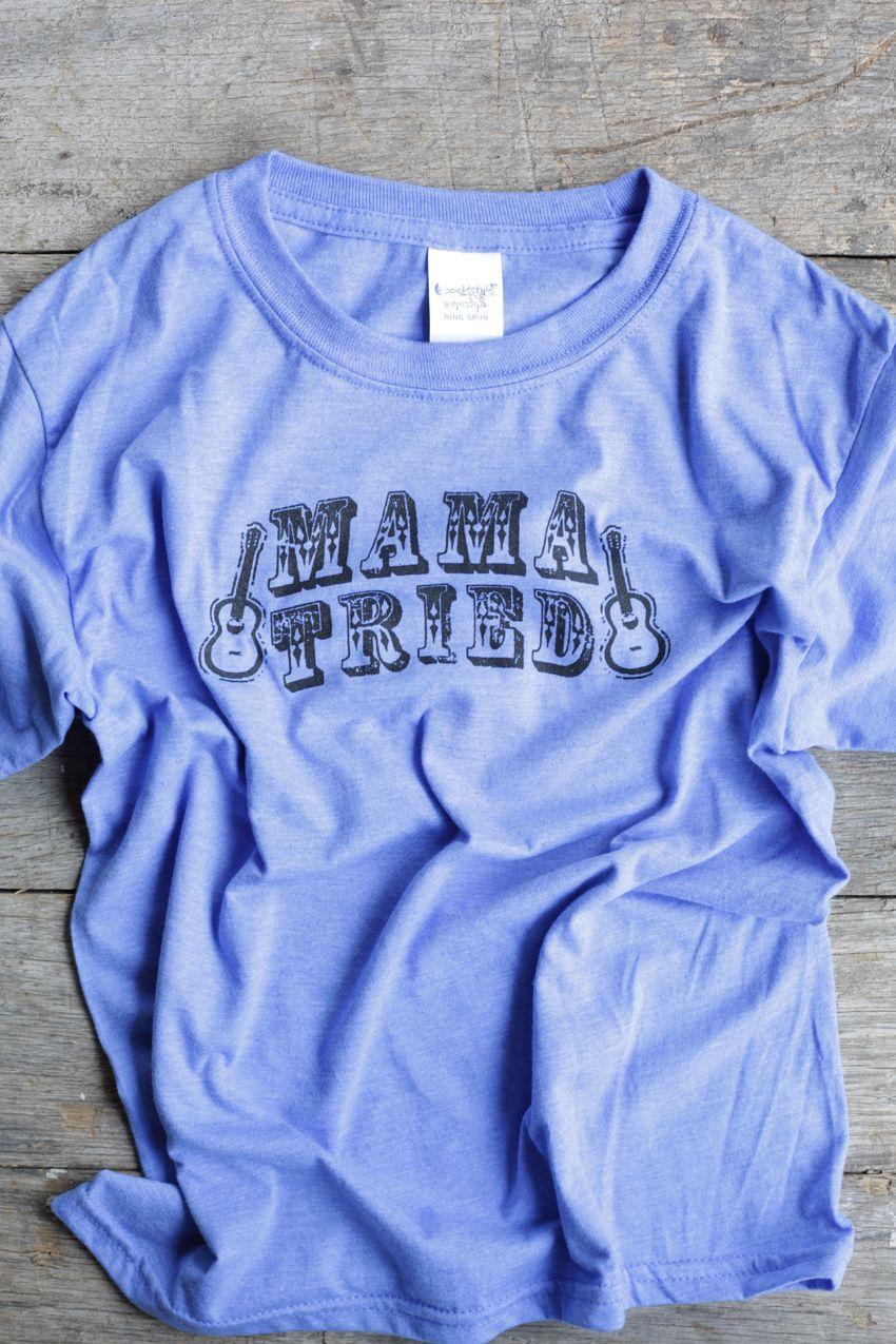 mama tried kids tee - royal blue