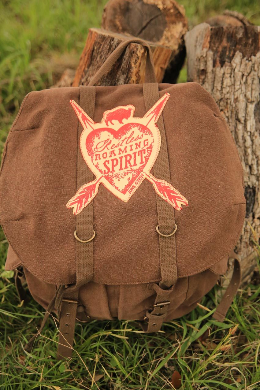 restless roaming spirit knapsack backpack