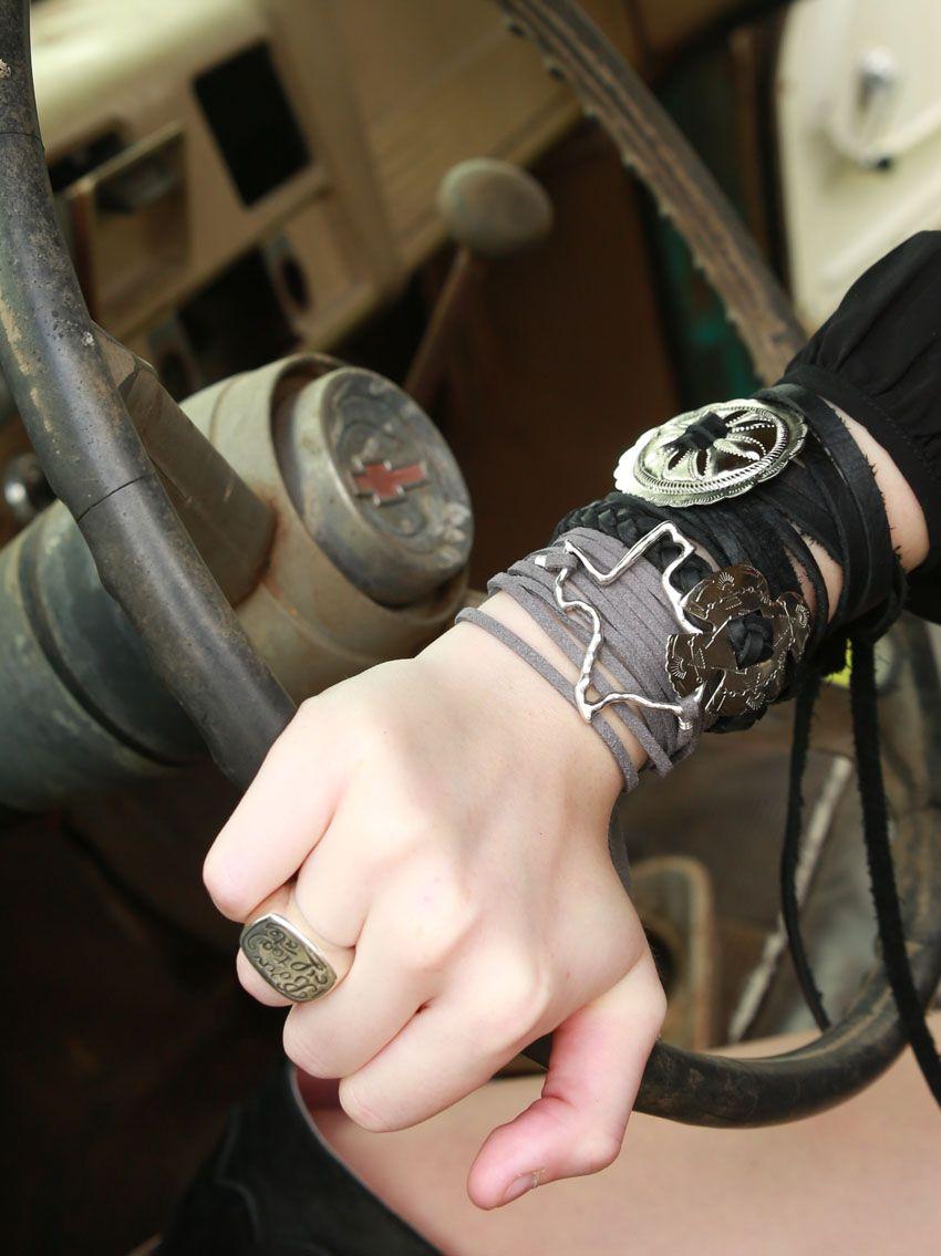 texas suede wrap - bracelet or choker