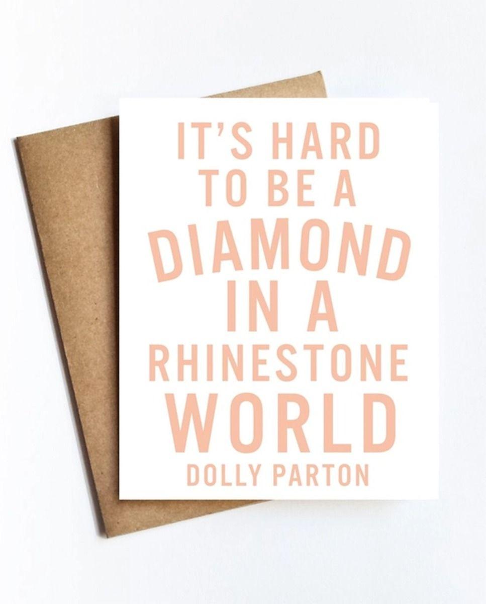 dolly diamond card