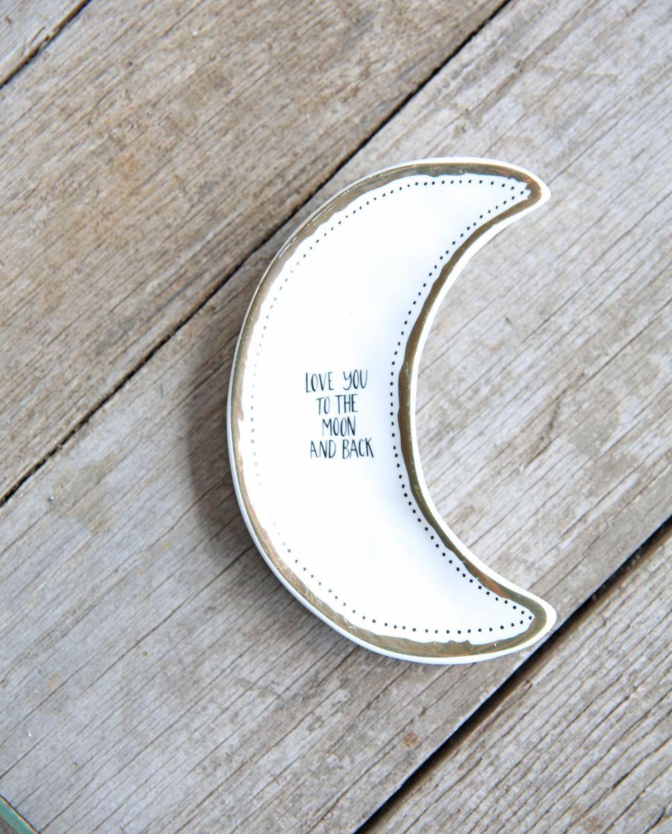 moon trinket dish