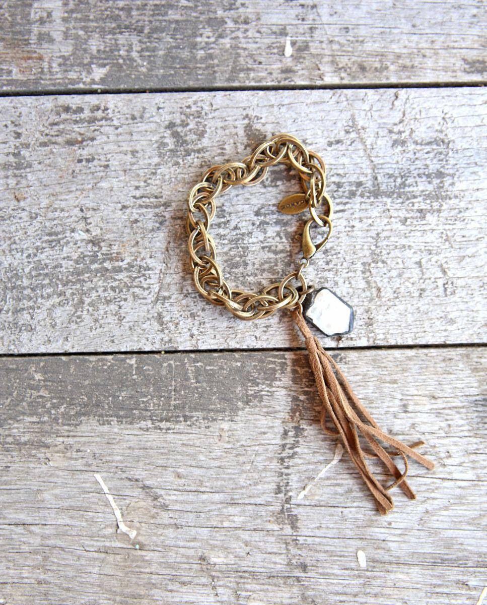 soldered pearl chain bracelet