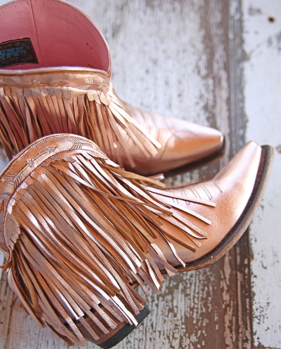 spitfire ankle boot - rose gold