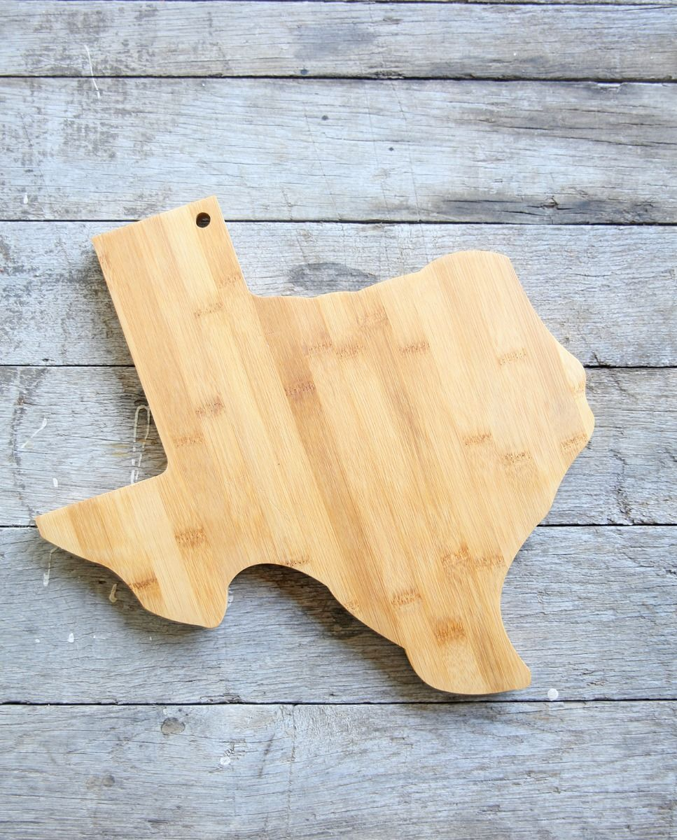 texas shaped bamboo cutting board