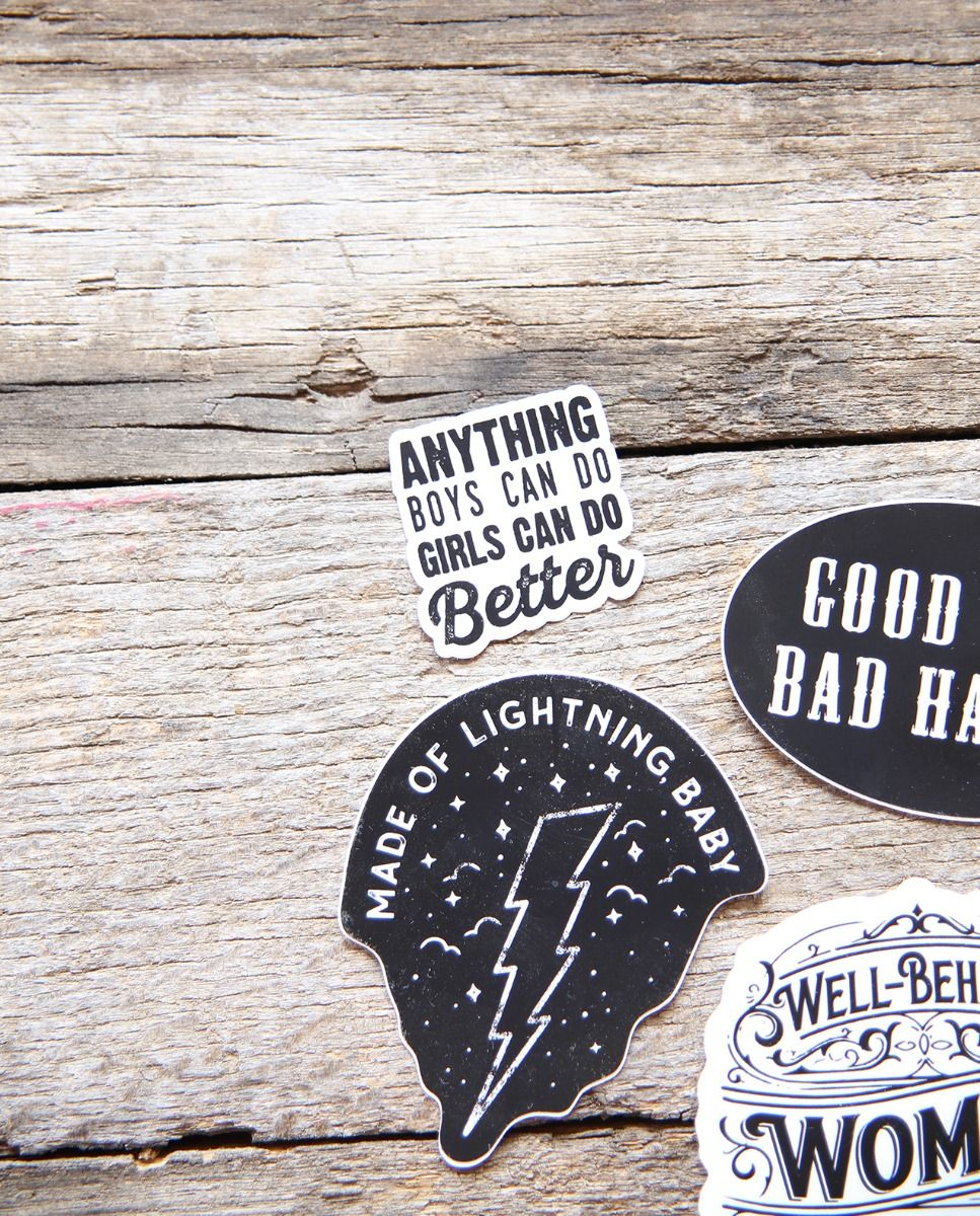 anything boys can do, girls can do better sticker