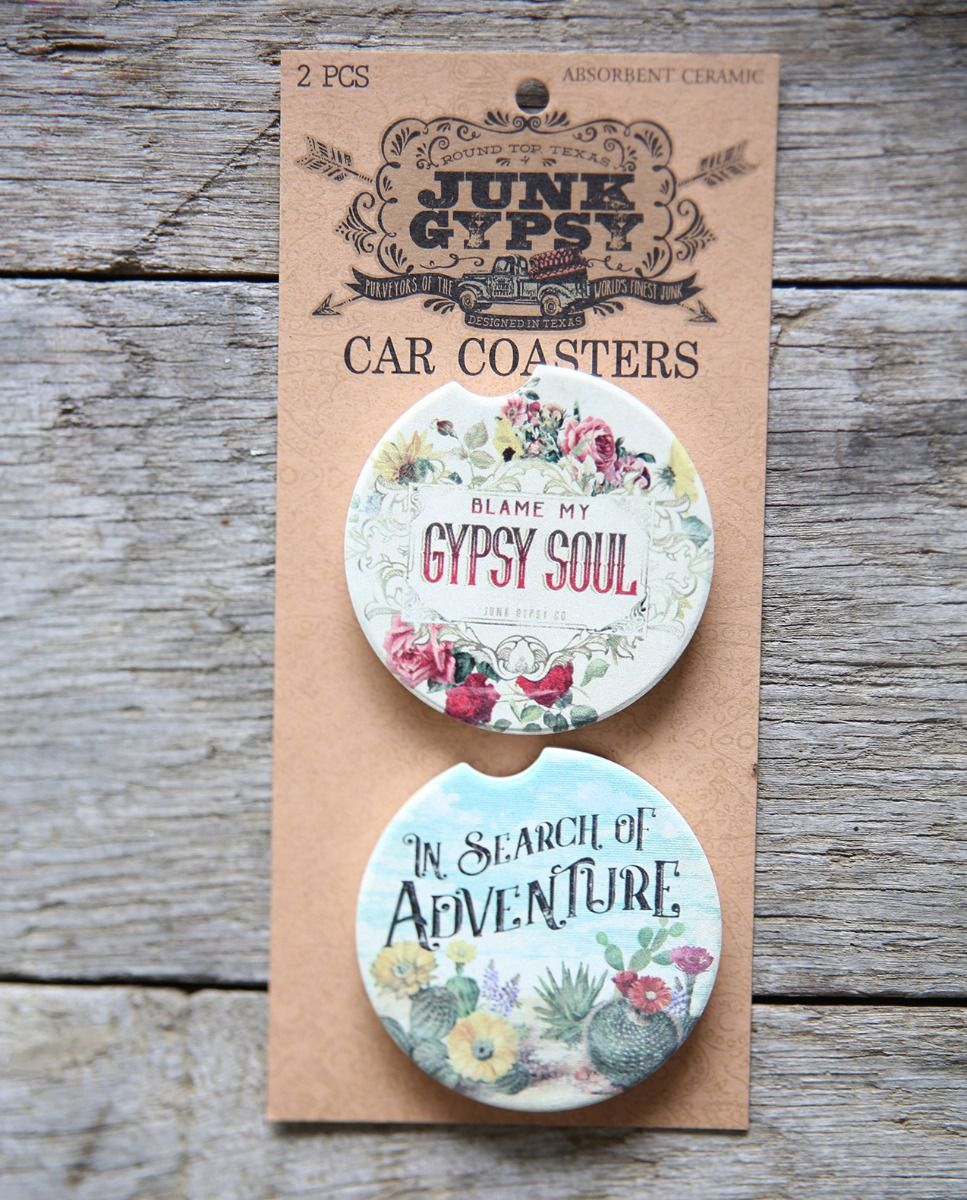 Gypsy Soul/ In Search of Adventure Car Coaster Set