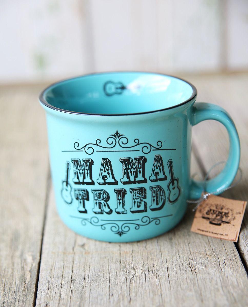 Turquoise Mama Tried Mug