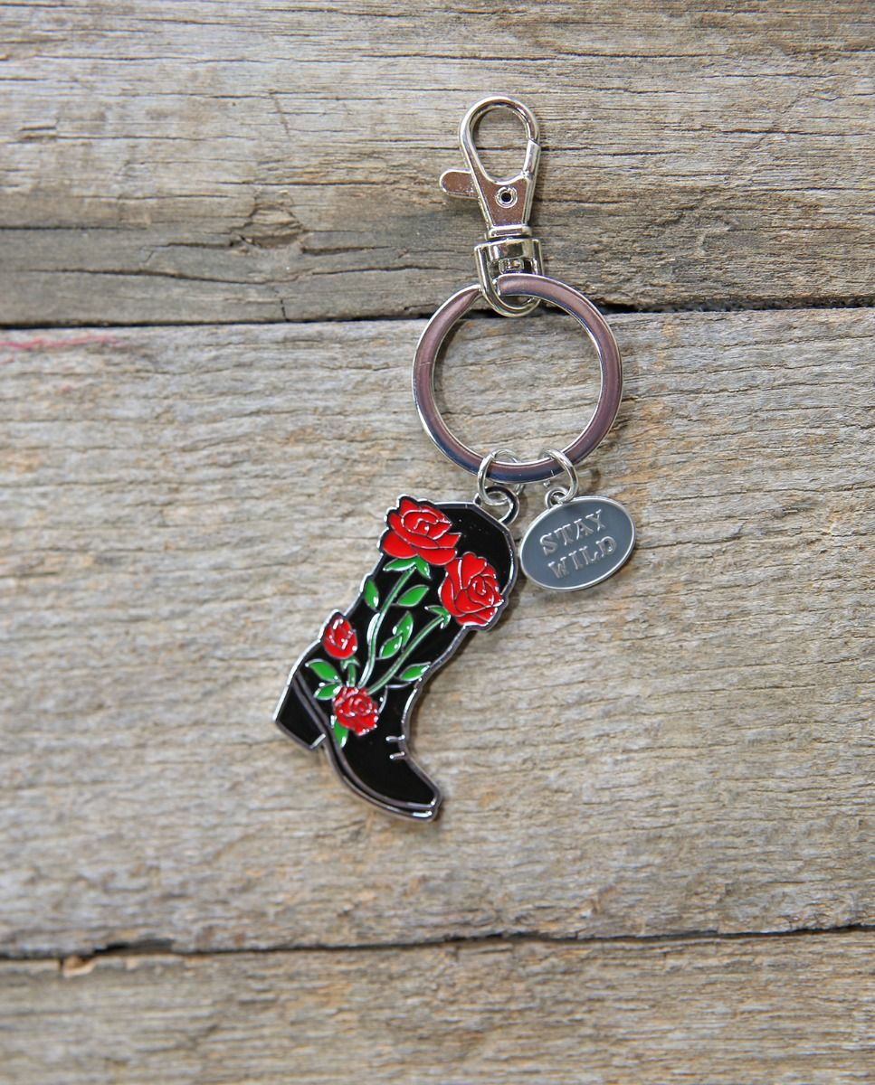 Stay Wild Boot Keyring