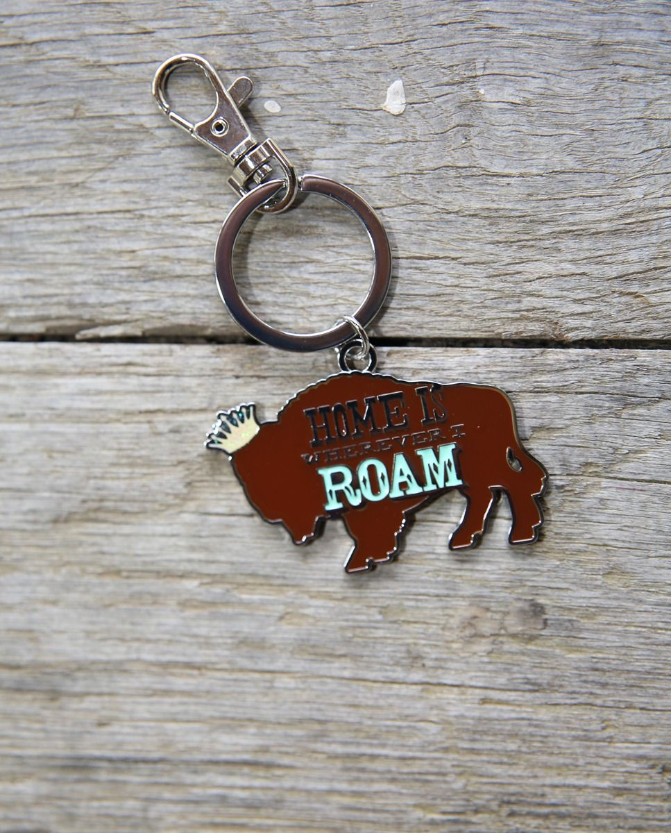 Home Is Wherever I Roam Buffalo Keyring