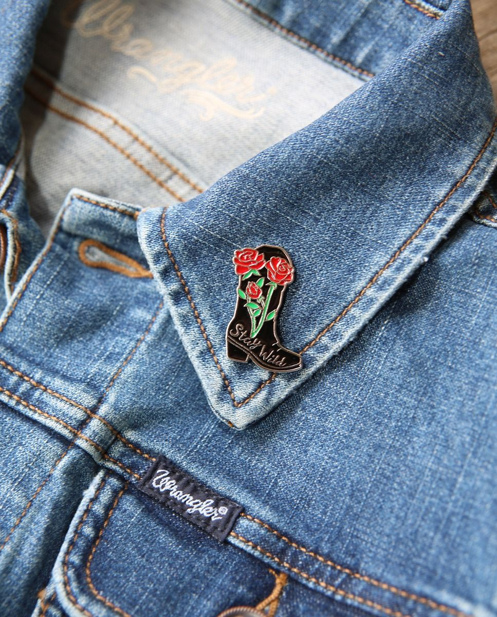 Stay Wild Boot Enamel Pin