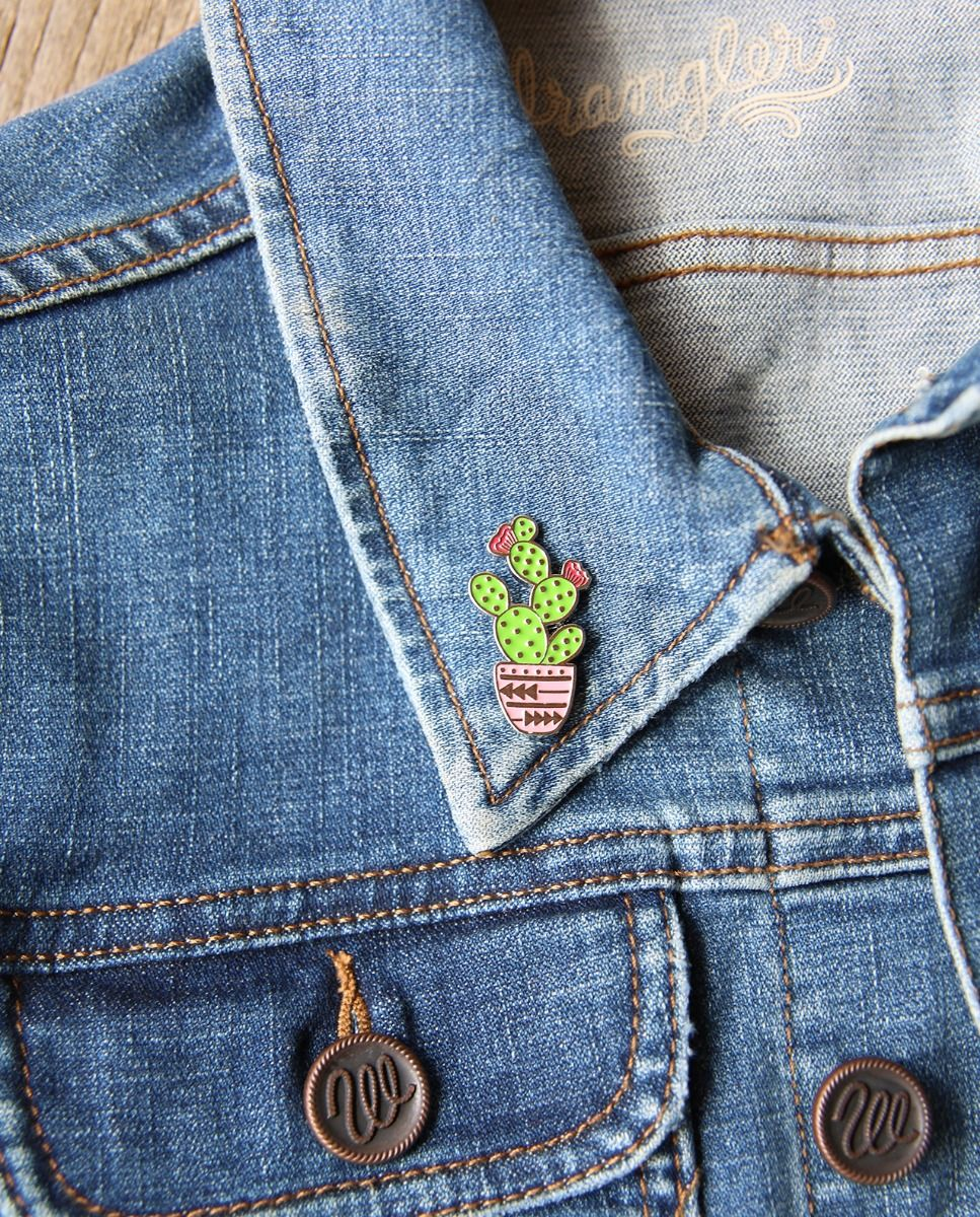 Hands in the Dirt Cactus Enamel Pin