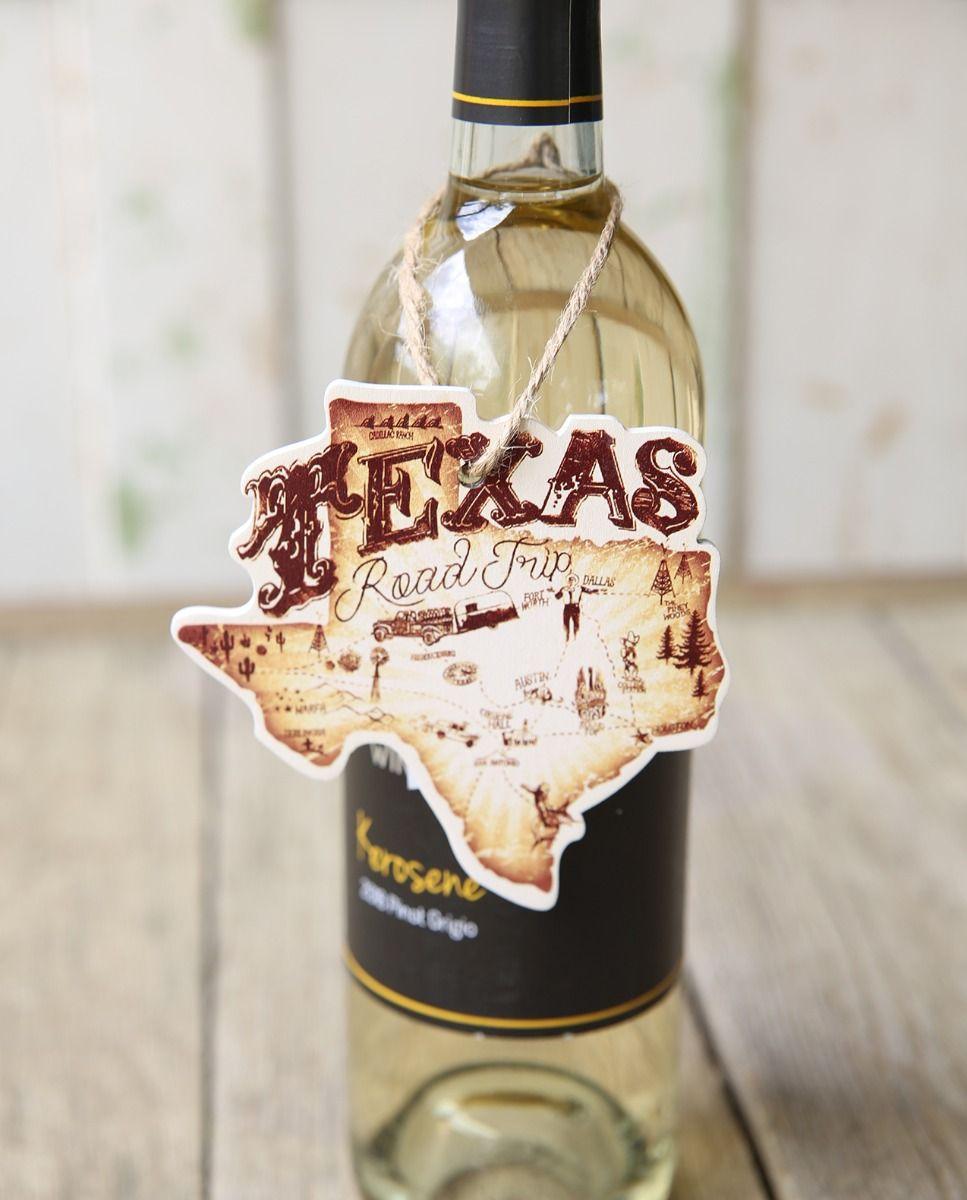 Texas Road Trip Wine Tag
