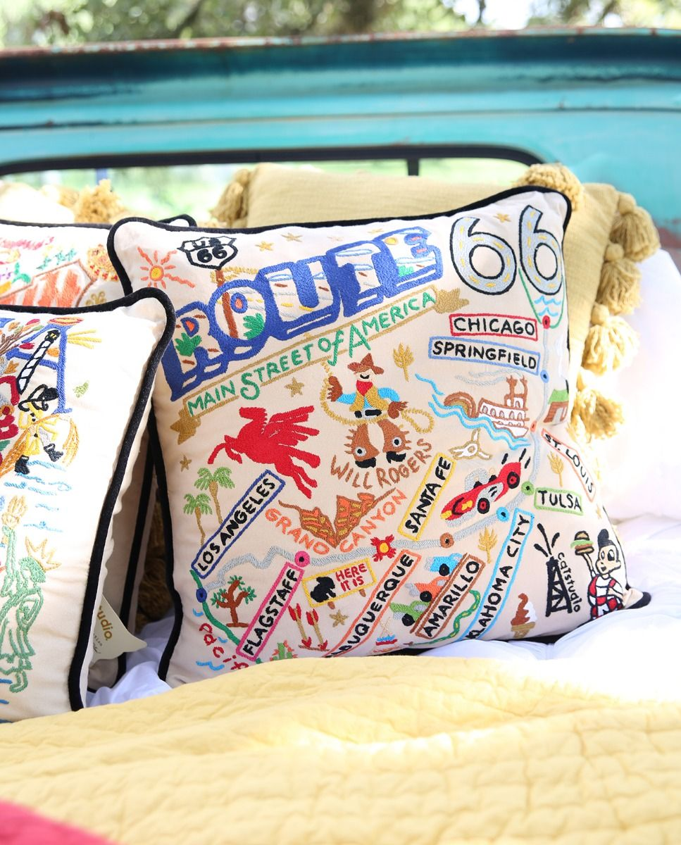 Route 66 pillow