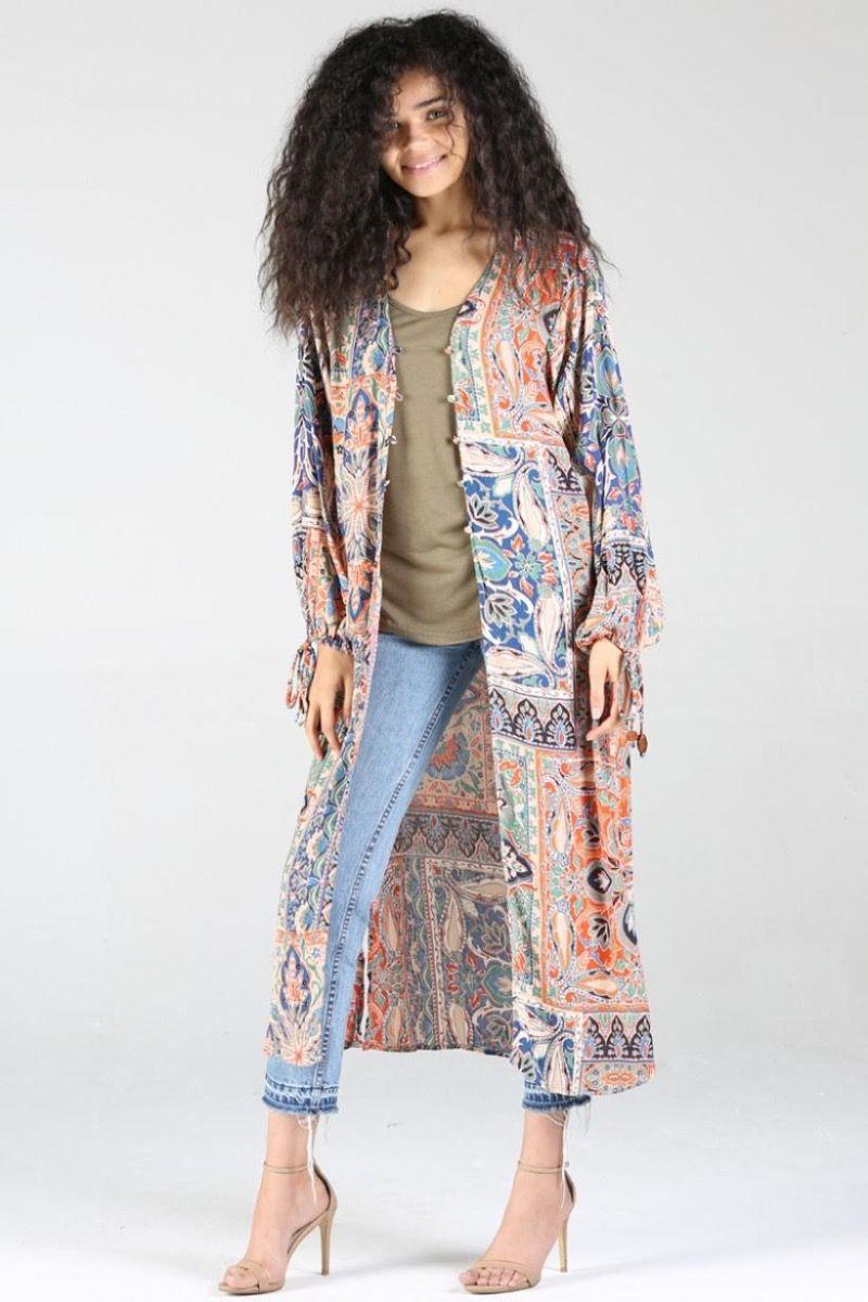 Havana long sleeve kimono