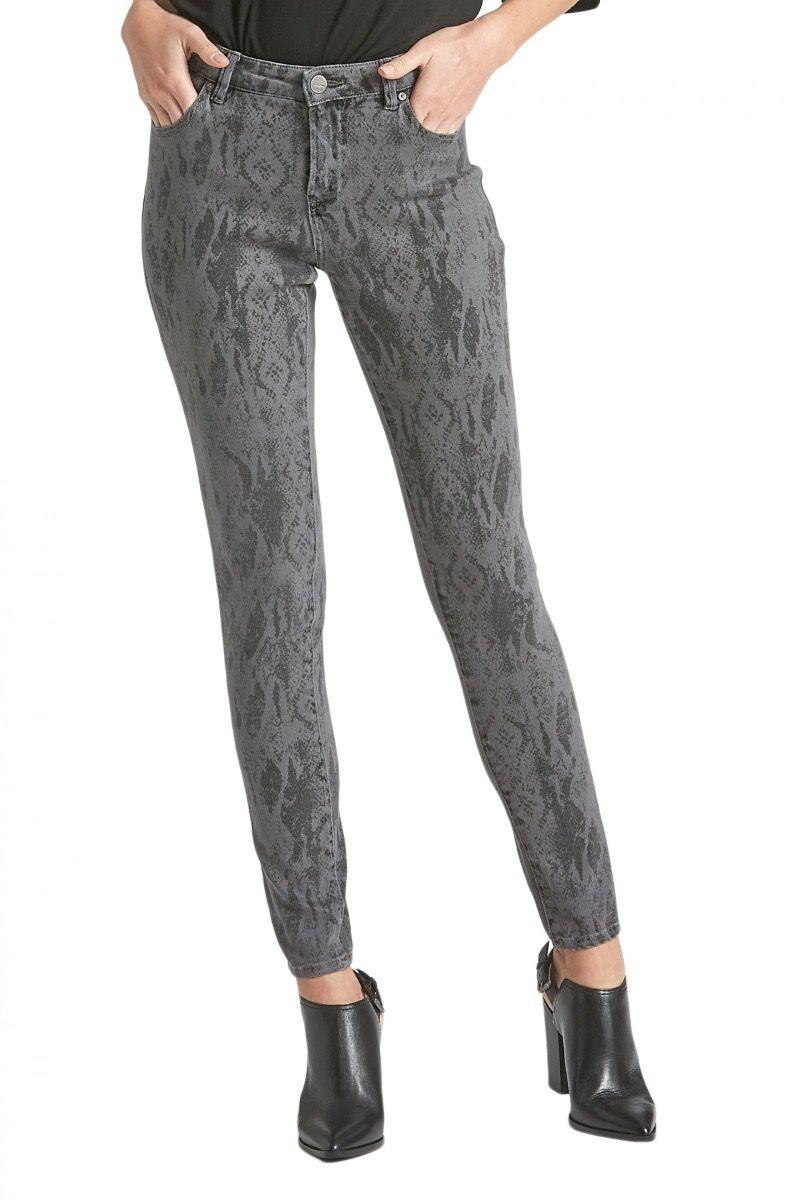 Gisele grey snake high rise skinny jeans