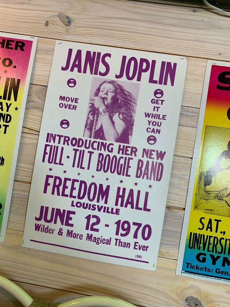 janis joplin - Louisville — poster and postcard