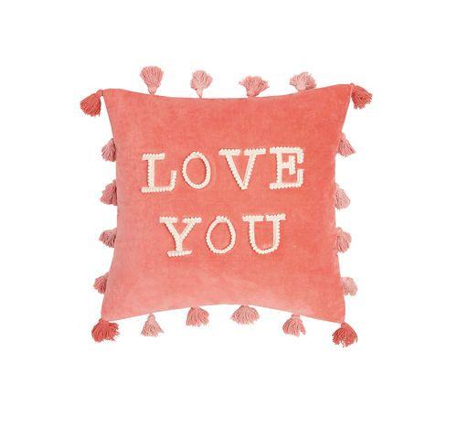 love you tassels pillow