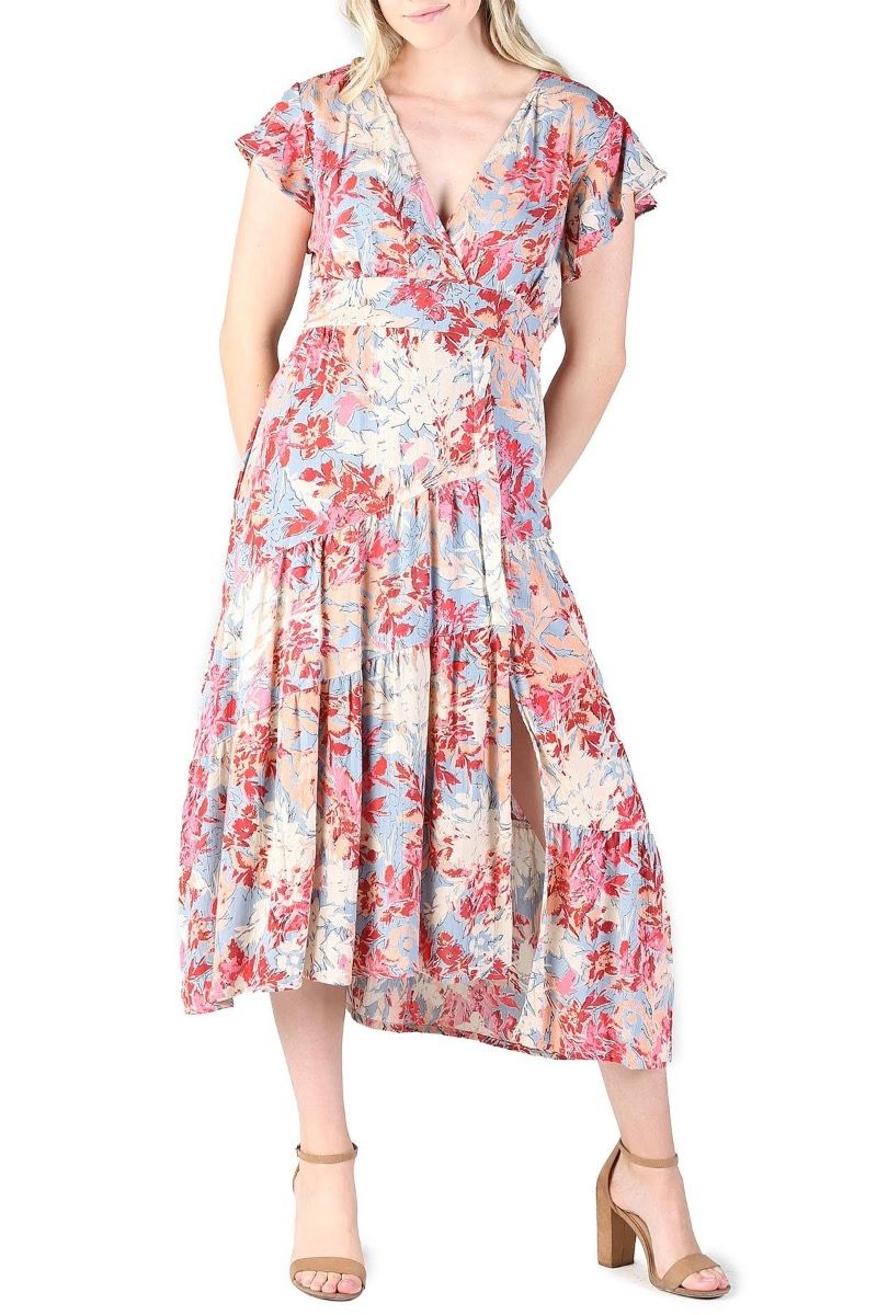 summer nights floral dress