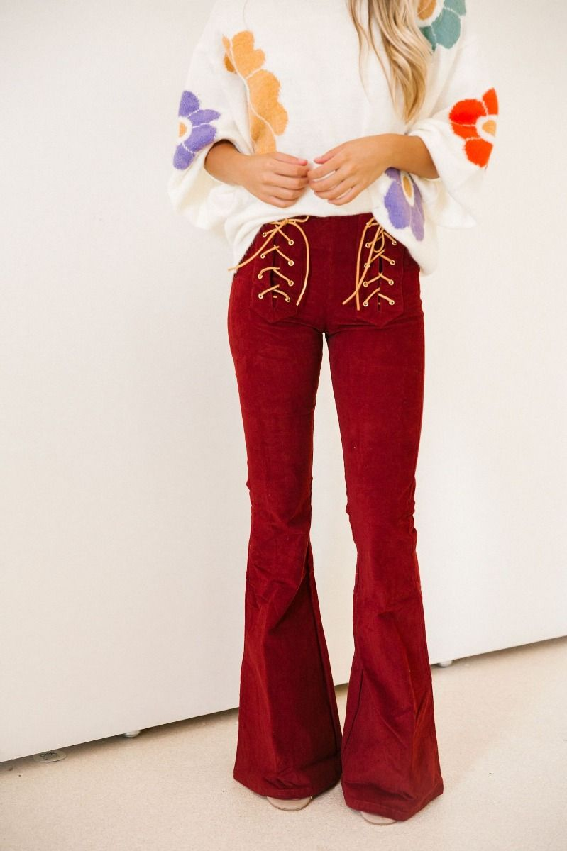 Judith March Good Karma Corduroy Flare Pants