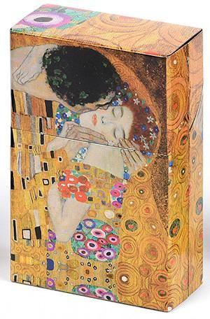 Mini Hinged Tin Box - Klimt The Kiss